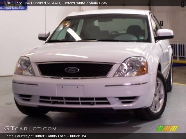 oxford white 2005 ford five hundred se awd shale grey interior vehicle. Black Bedroom Furniture Sets. Home Design Ideas
