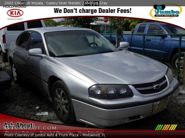 galaxy silver metallic 2002 chevrolet impala medium gray interior vehicle. Black Bedroom Furniture Sets. Home Design Ideas