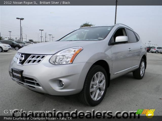 Brilliant Silver 2012 Nissan Rogue Sl Black Interior