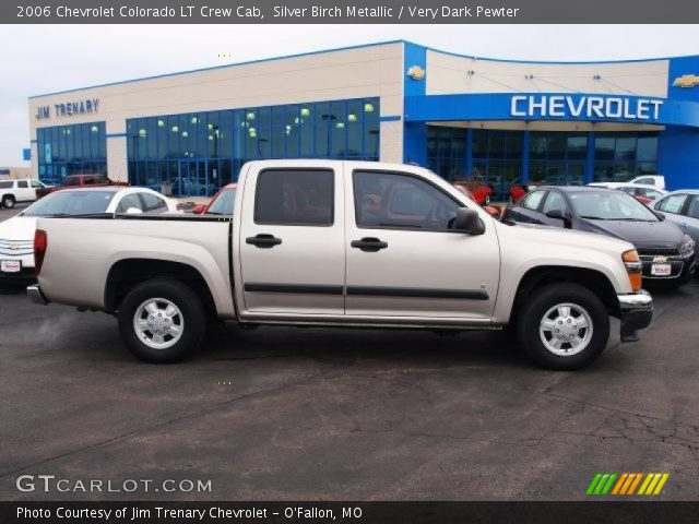 silver birch metallic 2006 chevrolet colorado lt crew cab very dark pewter interior. Black Bedroom Furniture Sets. Home Design Ideas