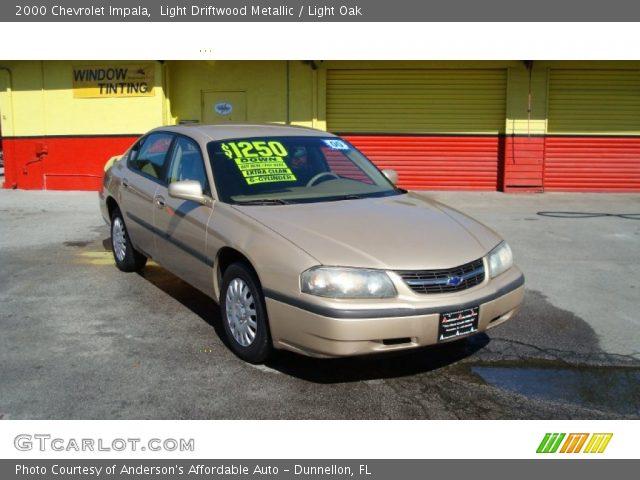 light driftwood metallic 2000 chevrolet impala light oak interior vehicle. Black Bedroom Furniture Sets. Home Design Ideas
