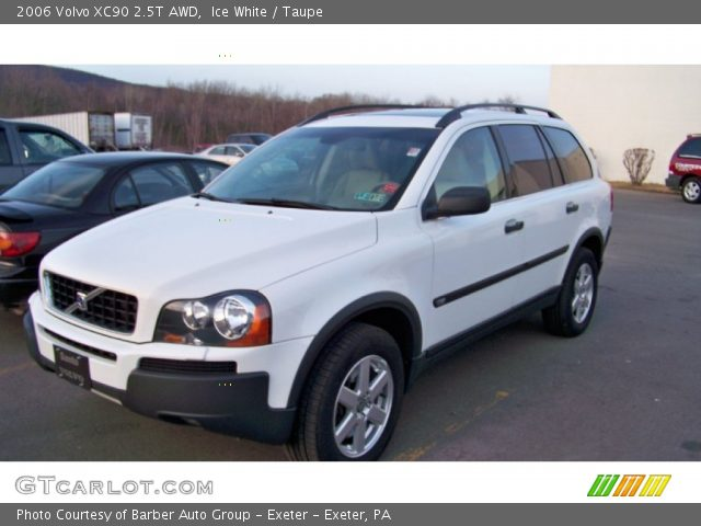 ice white 2006 volvo xc90 2 5t awd taupe interior vehicle archive 60328343. Black Bedroom Furniture Sets. Home Design Ideas