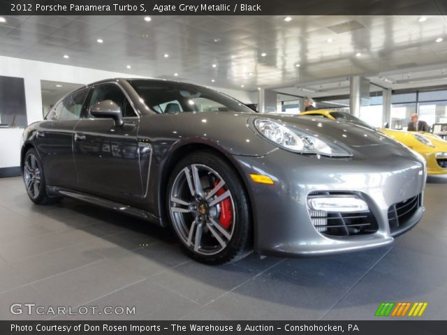agate grey metallic 2012 porsche panamera turbo s black interior vehicle. Black Bedroom Furniture Sets. Home Design Ideas