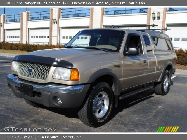 harvest gold metallic 2001 ford ranger xlt supercab 4x4 medium prairie tan interior. Black Bedroom Furniture Sets. Home Design Ideas