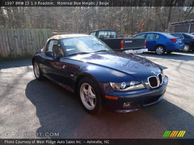 montreal blue metallic 1997 bmw z3 1 9 roadster beige interior vehicle. Black Bedroom Furniture Sets. Home Design Ideas