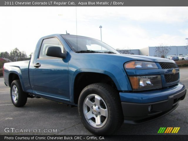 aqua blue metallic 2011 chevrolet colorado lt regular. Black Bedroom Furniture Sets. Home Design Ideas