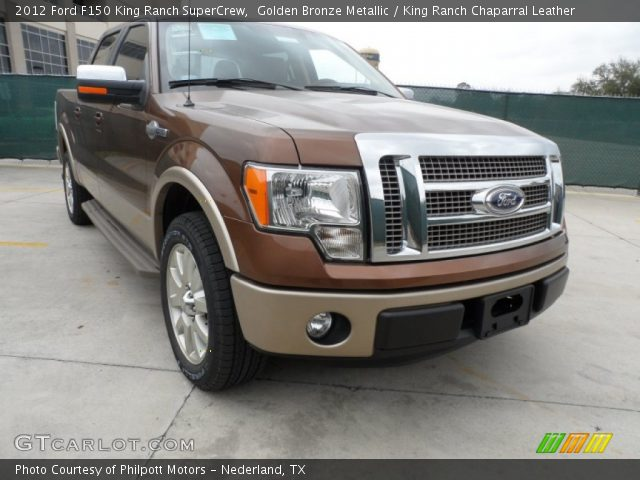 golden bronze metallic 2012 ford f150 king ranch supercrew king ranch chaparral leather. Black Bedroom Furniture Sets. Home Design Ideas