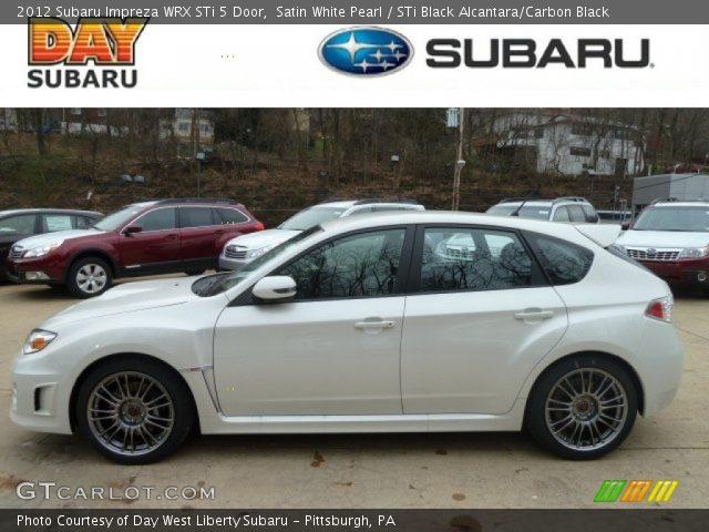 2012 Subaru Impreza WRX STi 5 Door in Satin White Pearl