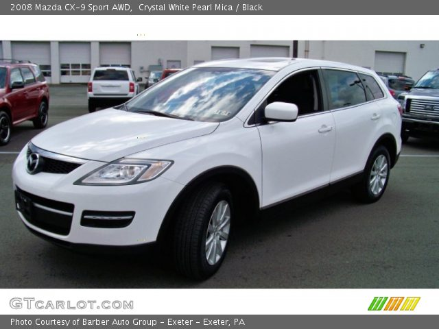 crystal white pearl mica 2008 mazda cx 9 sport awd. Black Bedroom Furniture Sets. Home Design Ideas