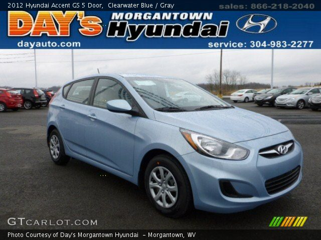 clearwater blue 2012 hyundai accent gs 5 door gray. Black Bedroom Furniture Sets. Home Design Ideas