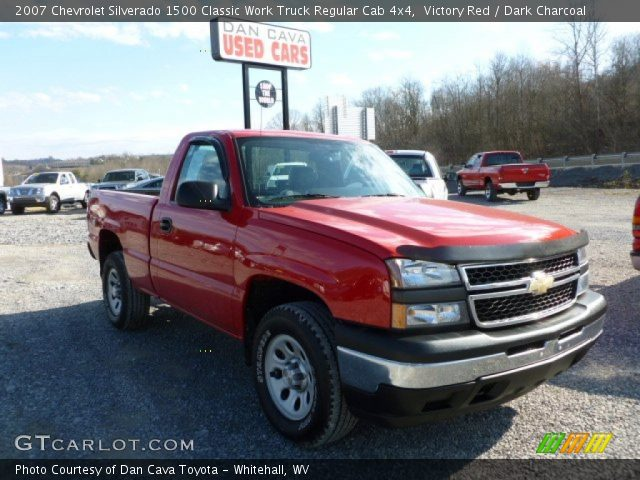 2007 Chevrolet Silverado 1500 Classic Work Truck Regular Cab 4x4 in Victory Red