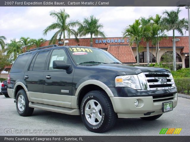 carbon metallic 2007 ford expedition eddie bauer camel interior vehicle. Black Bedroom Furniture Sets. Home Design Ideas