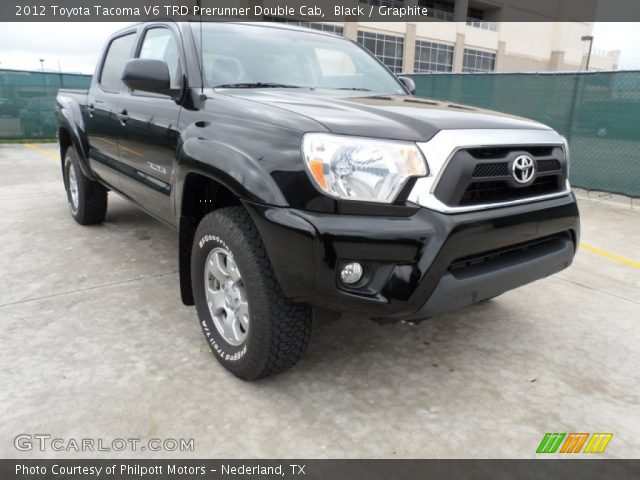 black 2012 toyota tacoma v6 trd prerunner double cab graphite interior. Black Bedroom Furniture Sets. Home Design Ideas