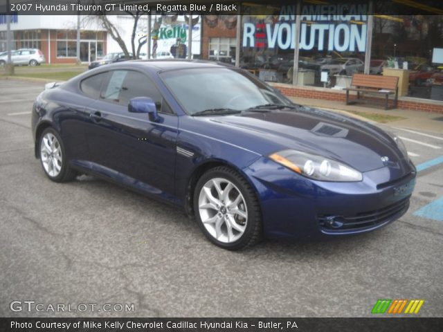 regatta blue 2007 hyundai tiburon gt limited black. Black Bedroom Furniture Sets. Home Design Ideas