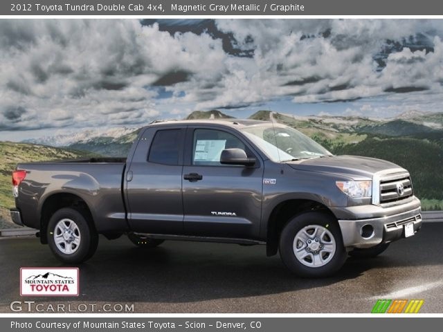 magnetic gray metallic 2012 toyota tundra double cab 4x4 graphite interior. Black Bedroom Furniture Sets. Home Design Ideas