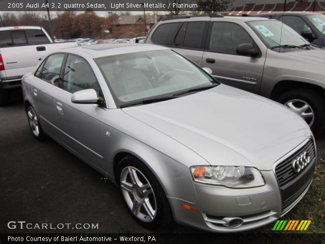 light silver metallic 2005 audi a4 3 2 quattro sedan platinum interior. Black Bedroom Furniture Sets. Home Design Ideas