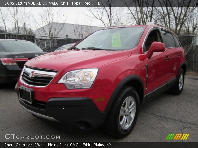 chili pepper red 2009 saturn vue xe v6 awd tan interior vehicle archive. Black Bedroom Furniture Sets. Home Design Ideas