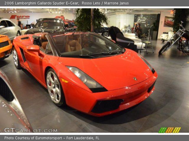 2006 Lamborghini Gallardo Spyder E-Gear in Rosso Leto