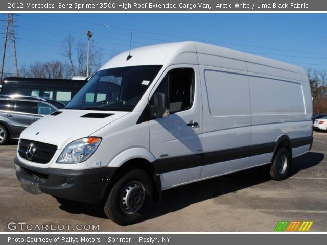 Arctic white 2012 mercedes benz sprinter 3500 high roof for Mercedes benz sprinter extended cargo van