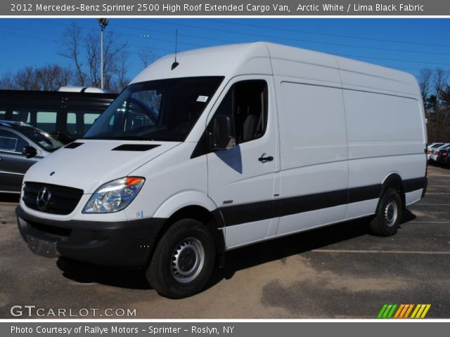 Arctic white 2012 mercedes benz sprinter 2500 high roof for Mercedes benz sprinter extended cargo van
