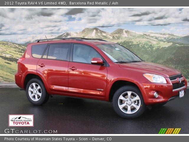 barcelona red metallic 2012 toyota rav4 v6 limited 4wd ash interior vehicle. Black Bedroom Furniture Sets. Home Design Ideas