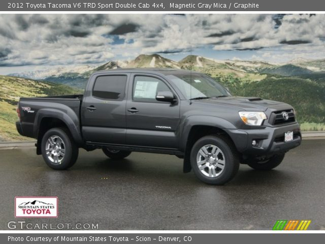 magnetic gray mica 2012 toyota tacoma v6 trd sport double cab 4x4 graphite interior. Black Bedroom Furniture Sets. Home Design Ideas