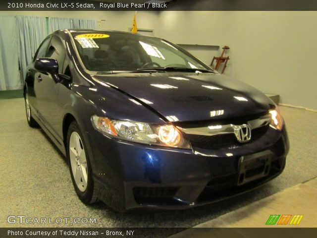 royal blue pearl 2010 honda civic lx s sedan black interior vehicle archive. Black Bedroom Furniture Sets. Home Design Ideas