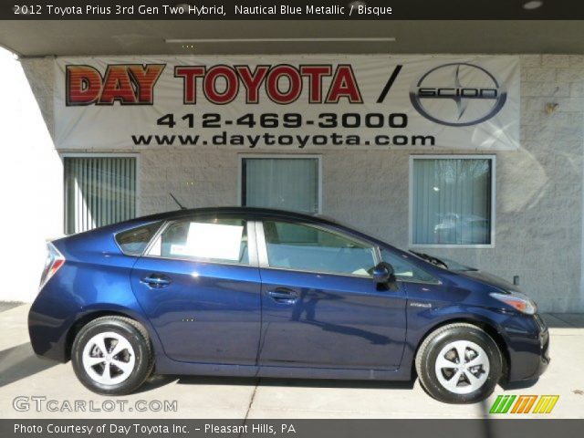 2012 Toyota Prius 3rd Gen Two Hybrid in Nautical Blue Metallic