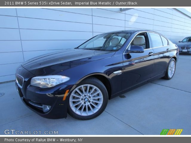 imperial blue metallic 2011 bmw 5 series 535i xdrive sedan oyster black interior gtcarlot. Black Bedroom Furniture Sets. Home Design Ideas
