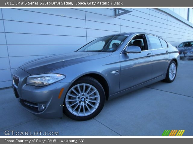 space gray metallic 2011 bmw 5 series 535i xdrive sedan black interior. Black Bedroom Furniture Sets. Home Design Ideas