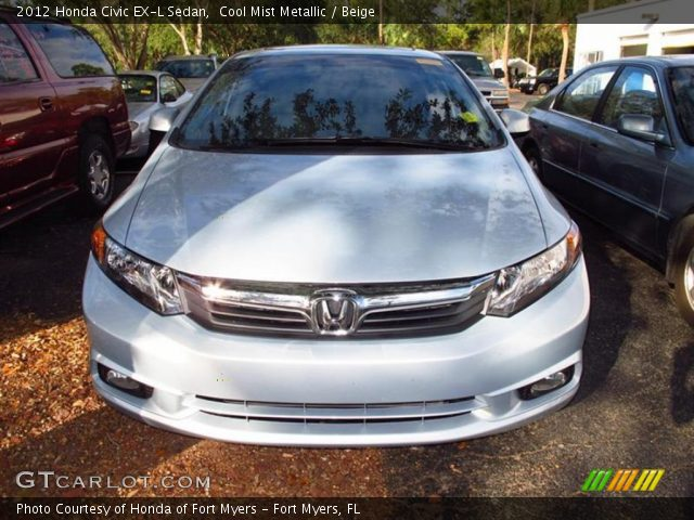 cool mist metallic 2012 honda civic ex l sedan beige interior vehicle. Black Bedroom Furniture Sets. Home Design Ideas