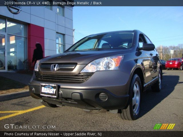 borrego beige metallic 2009 honda cr v lx 4wd black interior vehicle. Black Bedroom Furniture Sets. Home Design Ideas
