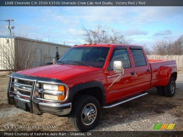 Victory Red 1998 Chevrolet C K 3500 K3500 Silverado Crew
