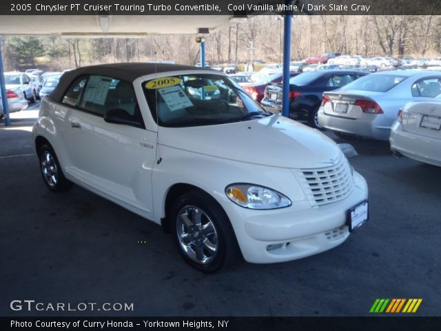 cool vanilla white 2005 chrysler pt cruiser touring turbo convertible dark slate gray. Black Bedroom Furniture Sets. Home Design Ideas