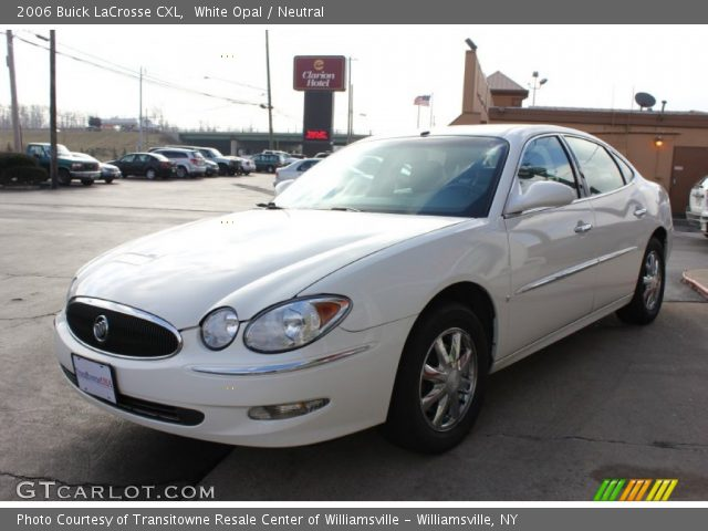 white opal 2006 buick lacrosse cxl neutral interior. Black Bedroom Furniture Sets. Home Design Ideas