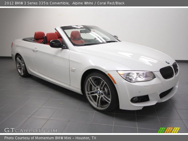 Alpine White 2012 Bmw 3 Series 335is Convertible Coral Red Black Interior