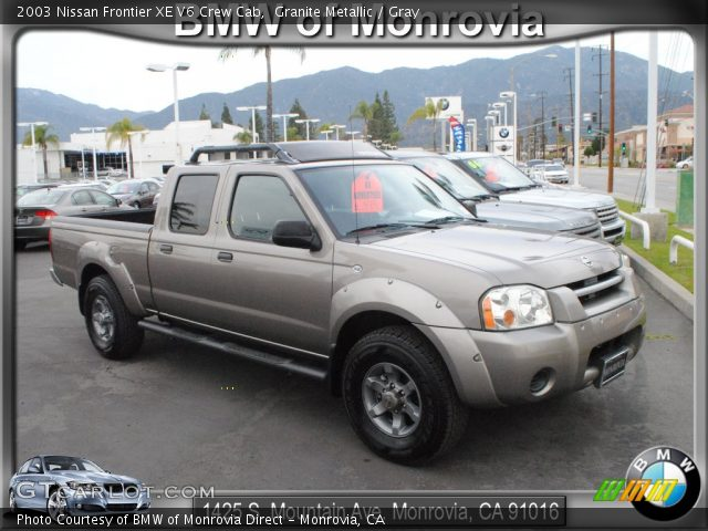 granite metallic 2003 nissan frontier xe v6 crew cab. Black Bedroom Furniture Sets. Home Design Ideas