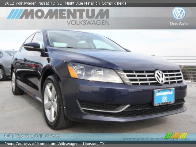 2012 Volkswagen Passat TDI SE in Night Blue Metallic