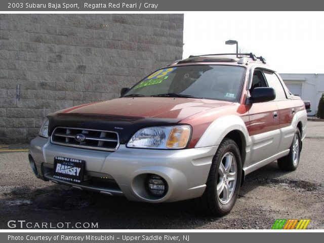 regatta red pearl 2003 subaru baja sport gray interior. Black Bedroom Furniture Sets. Home Design Ideas