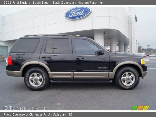 black clearcoat 2002 ford explorer eddie bauer medium parchment interior. Black Bedroom Furniture Sets. Home Design Ideas