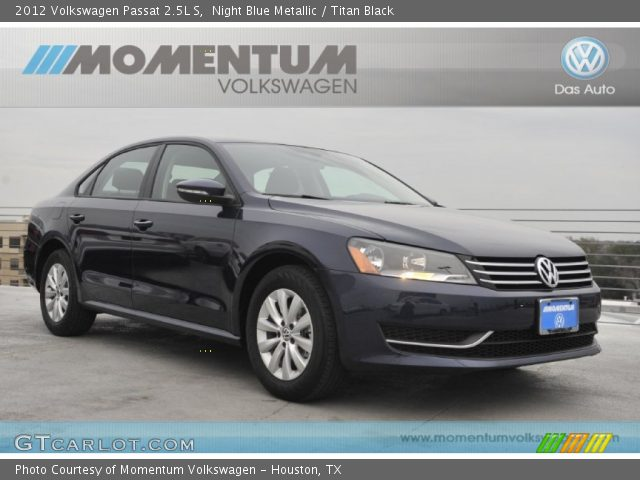 2012 Volkswagen Passat 2.5L S in Night Blue Metallic