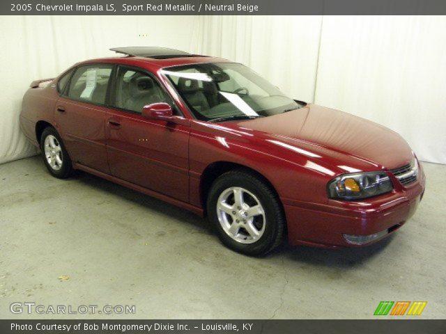sport red metallic 2005 chevrolet impala ls neutral. Black Bedroom Furniture Sets. Home Design Ideas