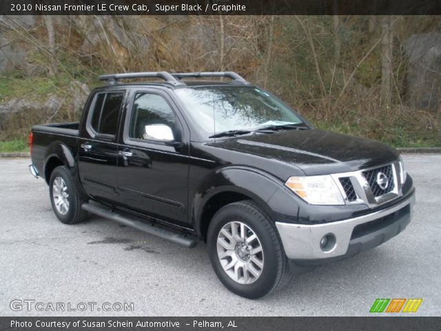 super black 2010 nissan frontier le crew cab graphite interior vehicle. Black Bedroom Furniture Sets. Home Design Ideas