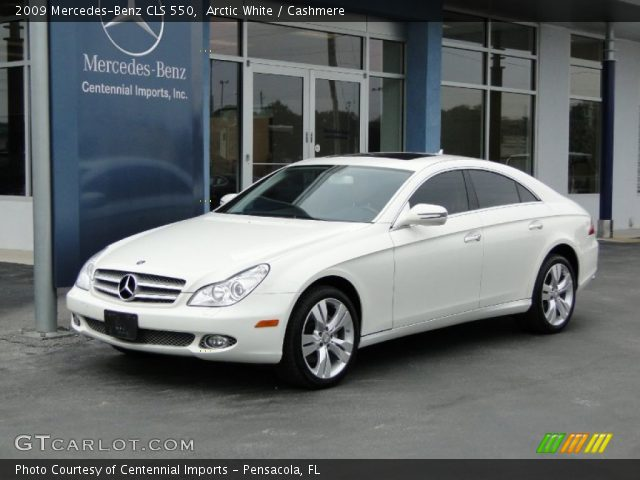 Arctic white 2009 mercedes benz cls 550 cashmere for Mercedes benz cls 2009