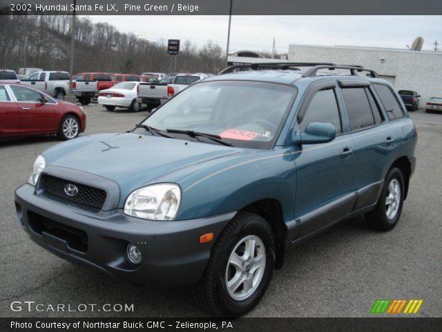 Pine Green 2002 Hyundai Santa Fe Lx Beige Interior Gtcarlot Com Vehicle Archive 60839387