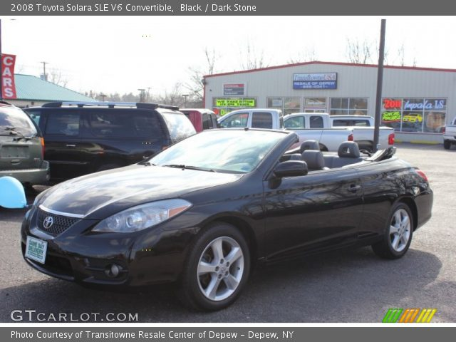 black 2008 toyota solara sle v6 convertible dark stone interior vehicle. Black Bedroom Furniture Sets. Home Design Ideas