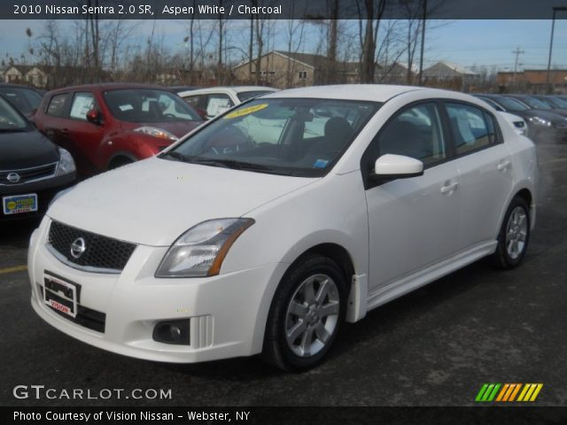 aspen white 2010 nissan sentra 2 0 sr charcoal interior vehicle archive. Black Bedroom Furniture Sets. Home Design Ideas