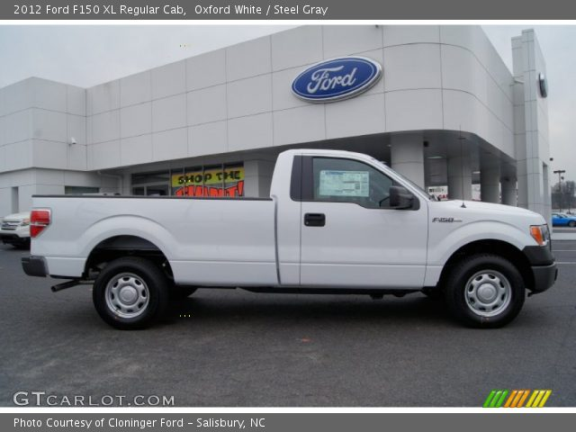 oxford white 2012 ford f150 xl regular cab steel gray interior vehicle. Black Bedroom Furniture Sets. Home Design Ideas