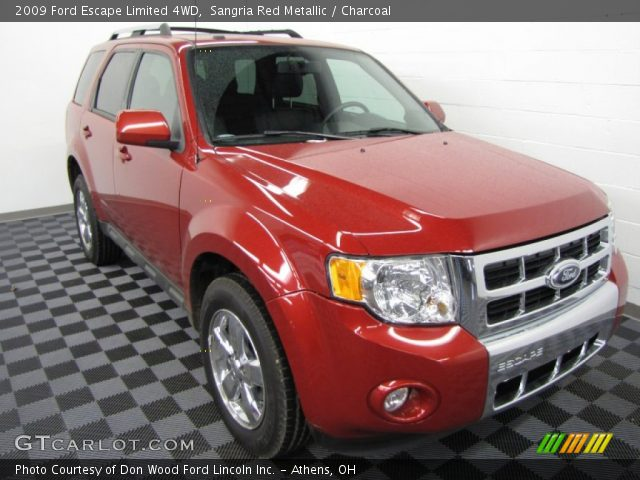 sangria red metallic 2009 ford escape limited 4wd. Black Bedroom Furniture Sets. Home Design Ideas