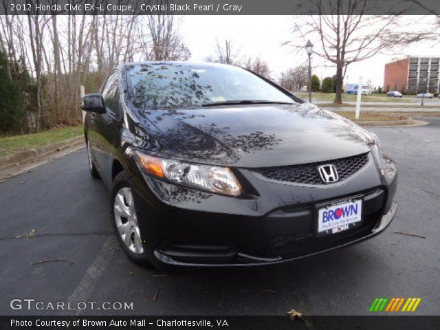 crystal black pearl 2012 honda civic ex l coupe gray interior vehicle. Black Bedroom Furniture Sets. Home Design Ideas